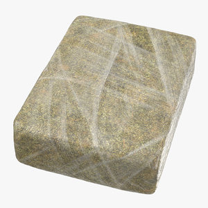 large wrapped drug brick 3D model