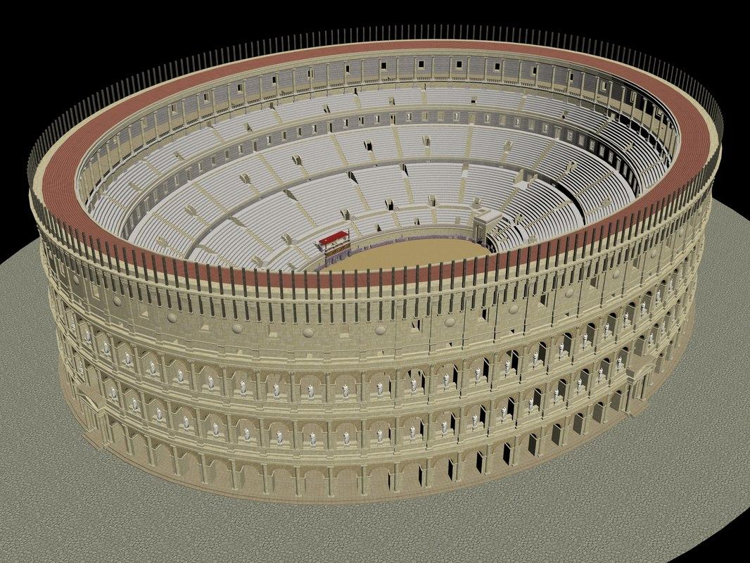 3D colosseum model