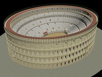 3D colosseum model