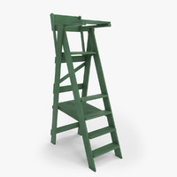 Tennis Umpire Chair (Green and White) - Classic Style