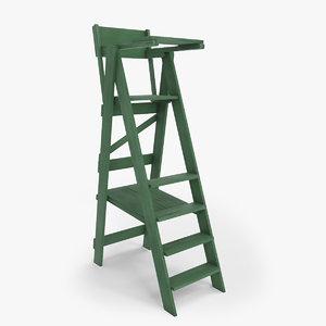 tennis umpire chair - model