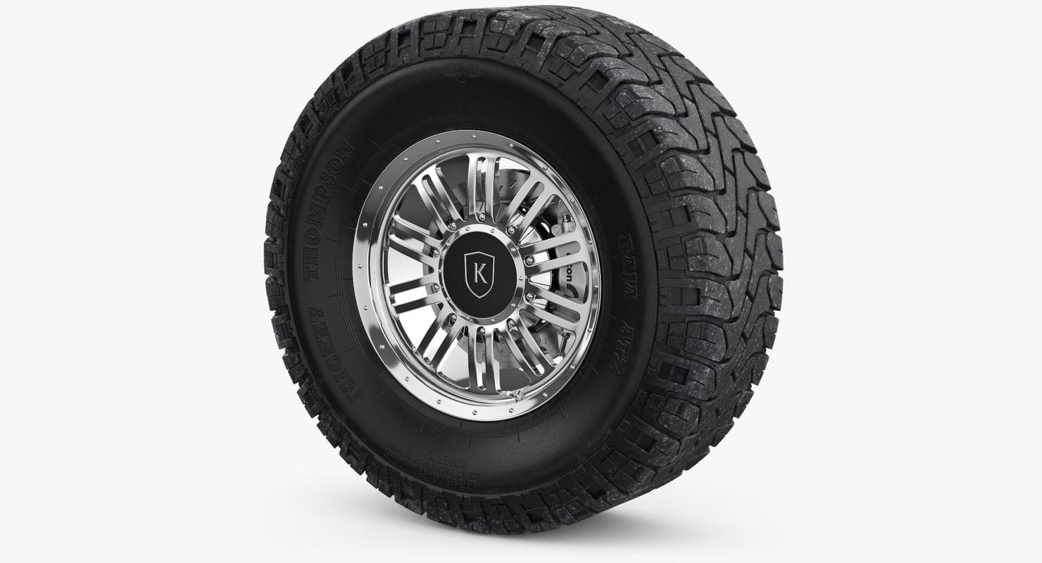 3D wheel rim mickey thompson