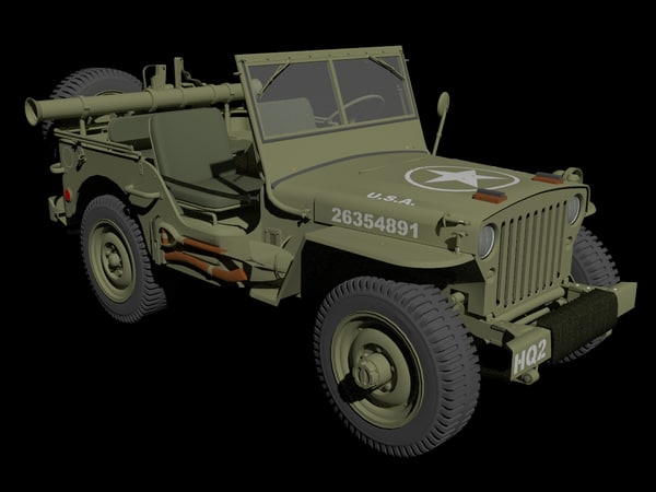 jeep willy 3D model