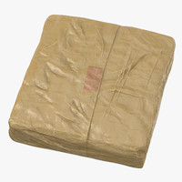 large wrapped drug brick model