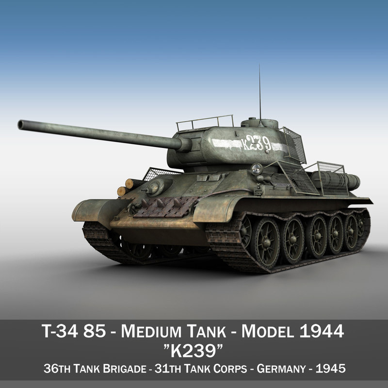3D model t-34 85 -