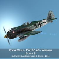focke wulf - fw190 3D model