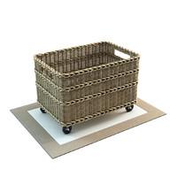3D model jacquelyne recycling bin basket