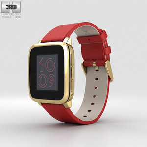 3D pebble time steel