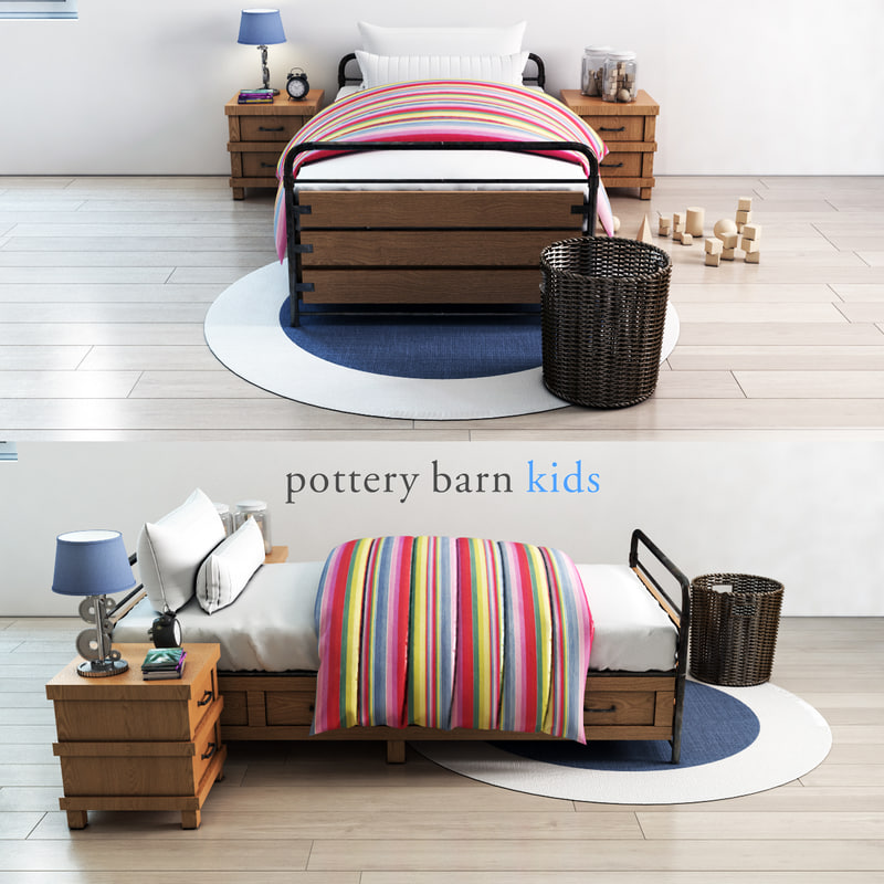 pottery barn owen platform 3D model