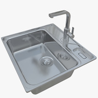 3D sink franke largo lax model