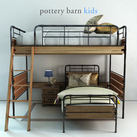 Pottery barn, Owen Twin Loft & Lower Bed Set