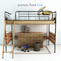 3D model pottery barn owen twin