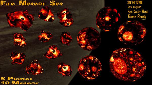 asteroid planet 3D model