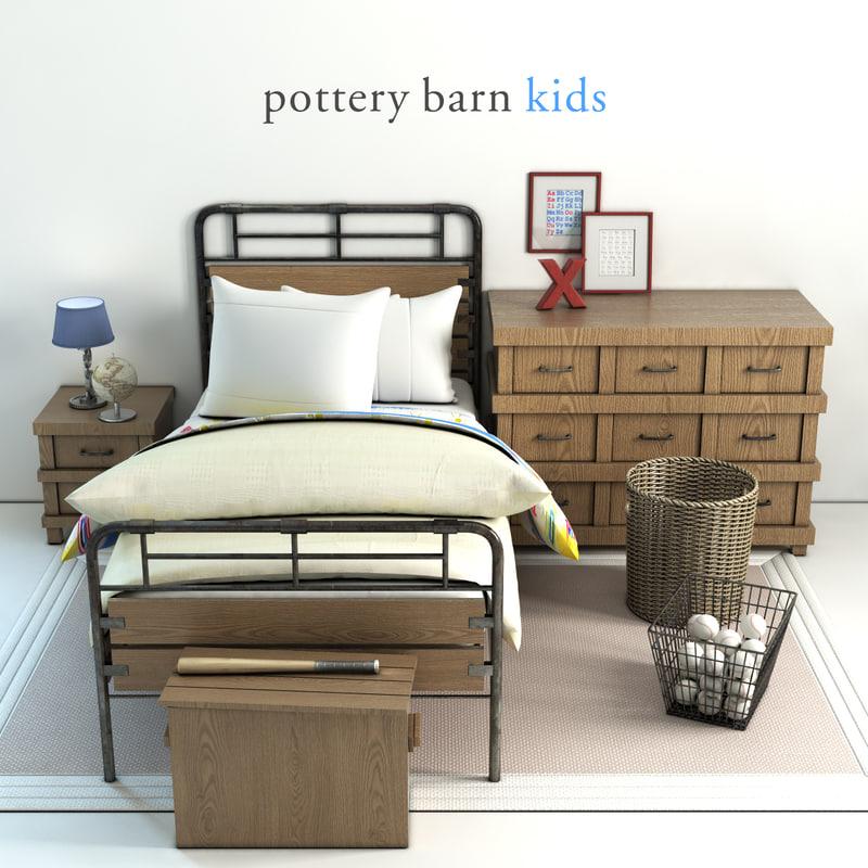 Pottery Barn Owen Bed 3d Model Turbosquid 1149867