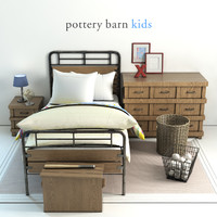 pottery barn owen bed 3D model