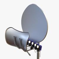 3D toroidal satellite dish