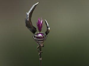 3D mage staff