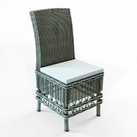 3D model wicker chairs lilly