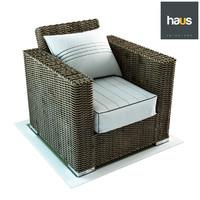 woven armchair haus interior 3D model