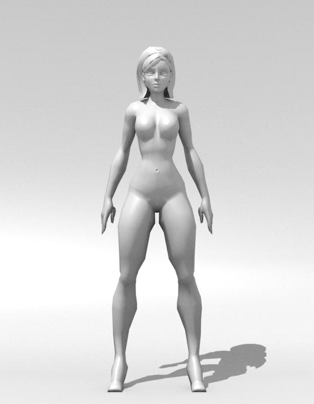 Cuerpo mujer 3D - TurboSquid 1149885