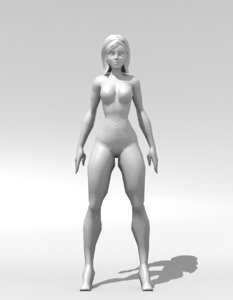 cuerpo mujer 3D