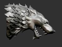 thrones wolf model