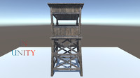 pack watch towers 3D model