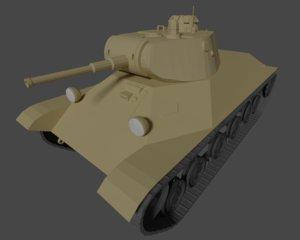 3D t-50 tank