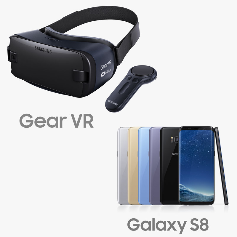 Samsung Galaxy S8 and Gear VR Headset with VR Controller 2017
