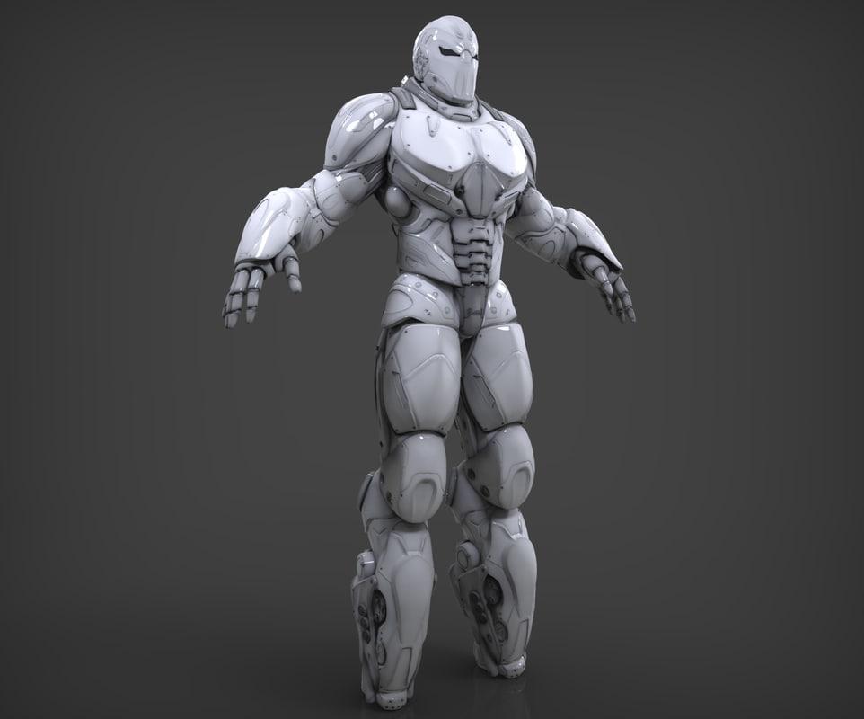 3D robot destroyer model