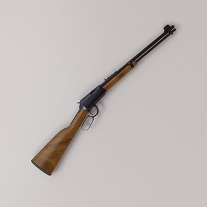 henry lever action rifle 3D model