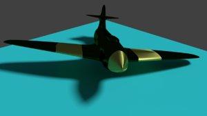 3D airplane plastic model