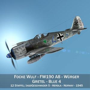 3D focke wulf - fw190