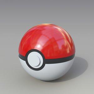3D pokeball ball