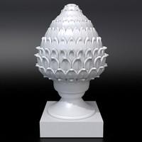 3D artichoke