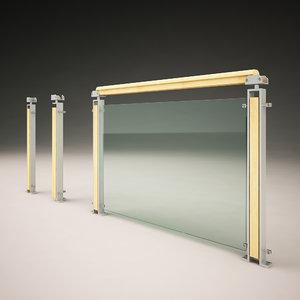 3D modern design handrail model