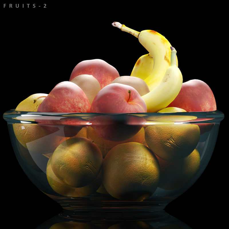 3D fruits 2