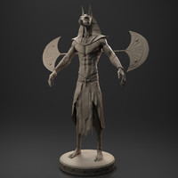anubis egyptian god 3D model