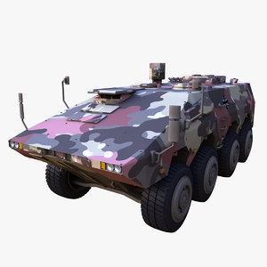 3D gtk boxer military vehicle