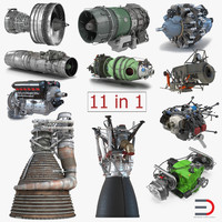 aircraft engines 2 3D model