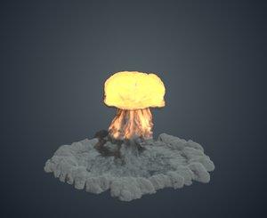 nuke explosion 3D model
