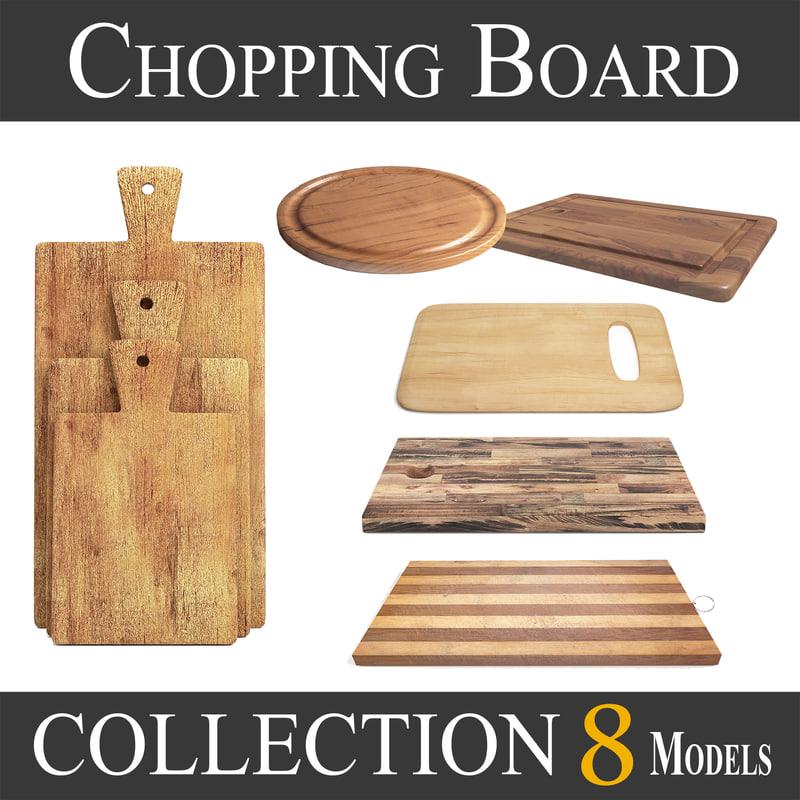 3D wooden cutting board - model