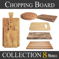 3D wooden cutting board - model