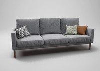 Grey linen couch