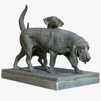 statue dogs model