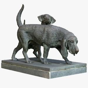 statue dogs model