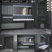 bathroom furniture set planeta 3D model