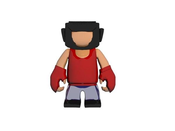 boxer toy 3D model