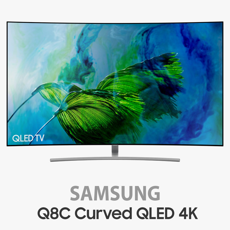 3D model samsung q8c curved qled