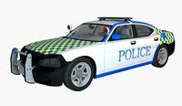 White Police Super Car